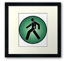 Walk(man) Framed Print