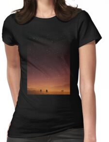 Planet Walk Womens Fitted T-Shirt