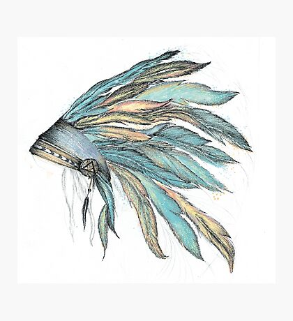 INDIAN feather Photographic Print