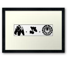 Bears + Beets + Battlestar Galactica (Black on White) Framed Print