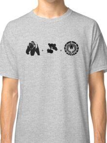 Bears + Beets + Battlestar Galactica (Black on White) Classic T-Shirt