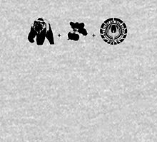 Bears + Beets + Battlestar Galactica (Black on White) Unisex T-Shirt