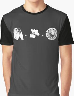 Bears + Beets + Battlestar Galactica (White on Black) Graphic T-Shirt