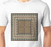 Tribal square on brown Unisex T-Shirt