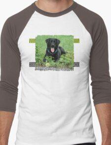 Loki - Black Labrador Men's Baseball ¾ T-Shirt