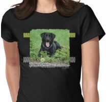Loki - Black Labrador Womens Fitted T-Shirt