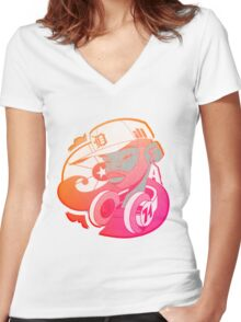 J Dilla - Retro 2 Women's Fitted V-Neck T-Shirt