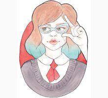 Nerdy, Blue-Haired Minerva in Vintage Glasses Unisex T-Shirt