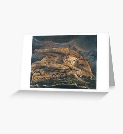 William Blake Elohim Creating Adam  Greeting Card