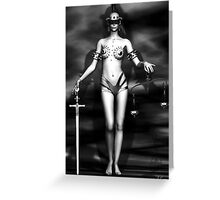 Lady Justice Greeting Card