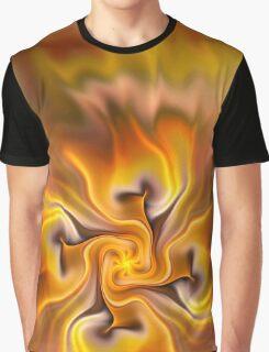 Fractal flower sketch 3 - a hint of autumn Graphic T-Shirt