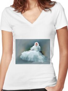Colorized Lucille Ball 1946 Women's Fitted V-Neck T-Shirt