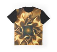 Fractal flower sketch 5 - a semblance of gold Graphic T-Shirt
