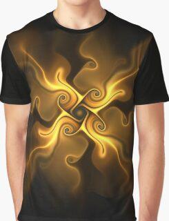 Fractal flower sketch 4 - autumnal gold Graphic T-Shirt