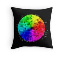 Colour wheel (cut) Throw Pillow