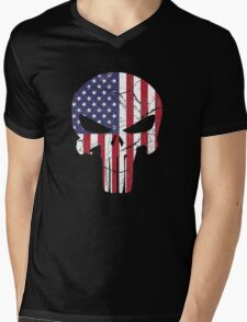 Punisher Mens V-Neck T-Shirt
