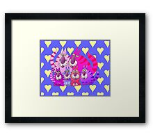 Purrrrfect in pink Framed Print