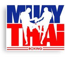 Muay Thay Boxing Logo Thailand Martial Art  Canvas Print