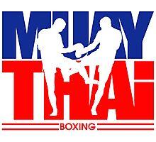 Muay Thay Boxing Logo Thailand Martial Art  Photographic Print