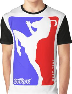 Muay Thay Boxing logo Thailand Martial Art  Graphic T-Shirt