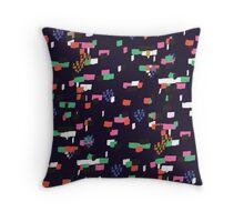 Confetti - Navy Throw Pillow