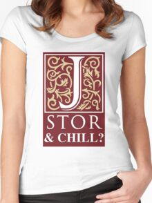 JSTOR and Chill Women's Fitted Scoop T-Shirt