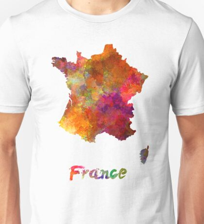 France in watercolor Unisex T-Shirt