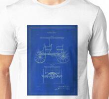 Patent Image - Car - Blue Unisex T-Shirt