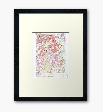 USGS TOPO Map Connecticut CT Hartford South 330609 1964 24000 Framed Print