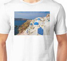 Oia,Santorini blue & white Unisex T-Shirt