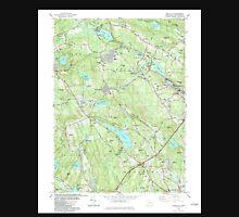 USGS TOPO Map Connecticut CT Montville 330676 1983 24000 Unisex T-Shirt