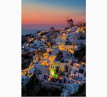 Oia colorfull night Santorini Unisex T-Shirt