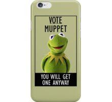 Vote Muppet iPhone Case/Skin