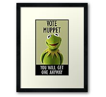 Vote Muppet Framed Print