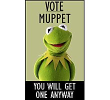 Vote Muppet Photographic Print
