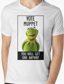 Vote Muppet Mens V-Neck T-Shirt