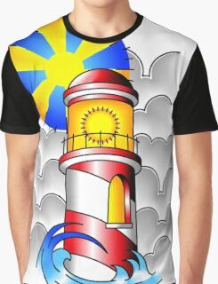 Traditional Lighthouse  Graphic T-Shirt