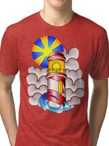 Traditional Lighthouse  Tri-blend T-Shirt
