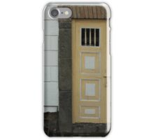 Yellow Door in a White Wall iPhone Case/Skin