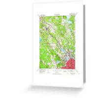 USGS TOPO Map Rhode Island RI Pawtucket 353333 1949 24000 Greeting Card