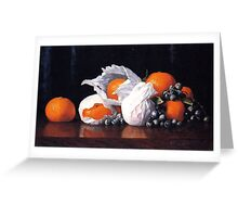William-Joseph-McCloskey- Tangerines in Tissues with Grapes Greeting Card