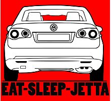 Eat Sleep Volkswagen Jetta Photographic Print