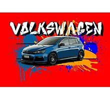 VW Golf R Paint Splatter Photographic Print