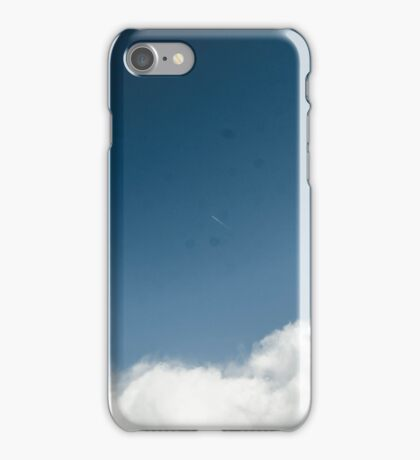 Cloudy sky with Airplane iPhone Case/Skin