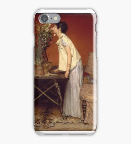 Woman and Flowers, , Sir Lawrence Alma-Tadema (Dutch (active in England) iPhone Case/Skin
