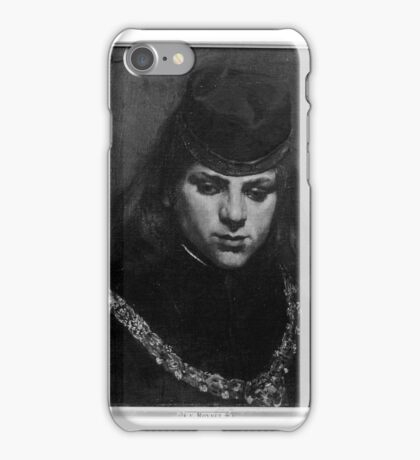 Young Man in Medieval Costume Ferdinand Roybet  iPhone Case/Skin