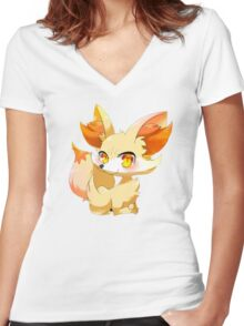 Cute Pocket Monster 2 Women's Fitted V-Neck T-Shirt