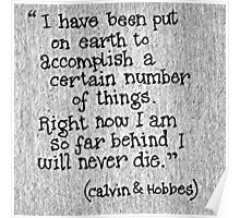 Quote Calvin and Hobbes Poster