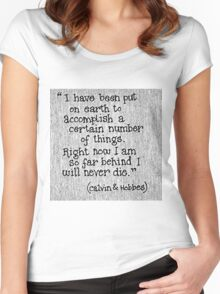 Quote Calvin and Hobbes Women's Fitted Scoop T-Shirt
