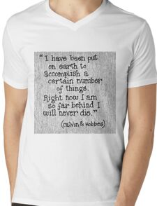 Quote Calvin and Hobbes Mens V-Neck T-Shirt